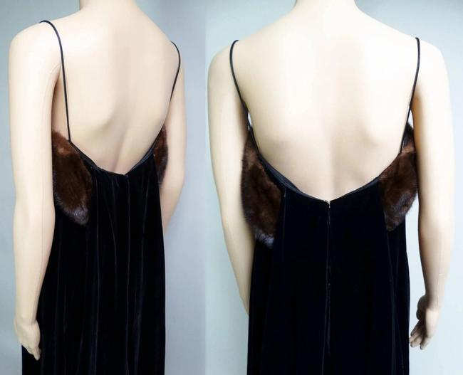 Cameo Long Evening Gown Velvet Gown Designer Evening Gown Dress Image 3