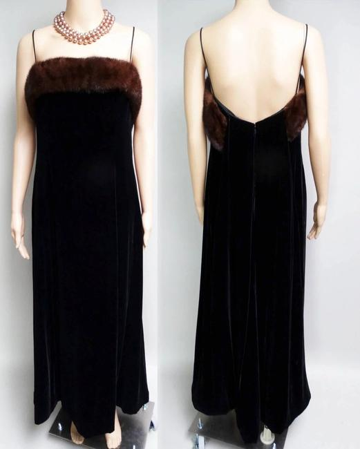 Cameo Long Evening Gown Velvet Gown Designer Evening Gown Dress Image 5