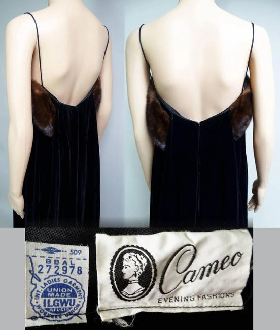 Cameo Long Evening Gown Velvet Gown Designer Evening Gown Dress Image 6