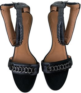 Givenchy Chain Leather Black Sandals