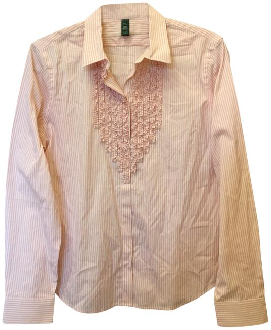 Preload https://img-static.tradesy.com/item/25434660/lauren-ralph-lauren-pink-and-white-blouse-size-petite-12-l-0-1-650-650.jpg