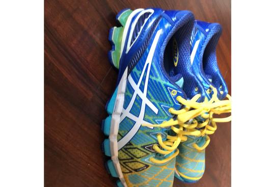 Asics blue, green, yellow Athletic Image 2