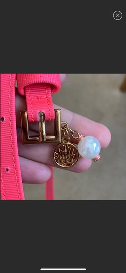 Lilly Pulitzer Lilly Pink Belt with Pearl & Logo Image 1