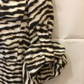 Calvin Klein Animal Print Sleeve Straps Plus Size 2x New With Tags Top Brown and White Image 5