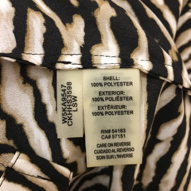 Calvin Klein Animal Print Sleeve Straps Plus Size 2x New With Tags Top Brown and White Image 6