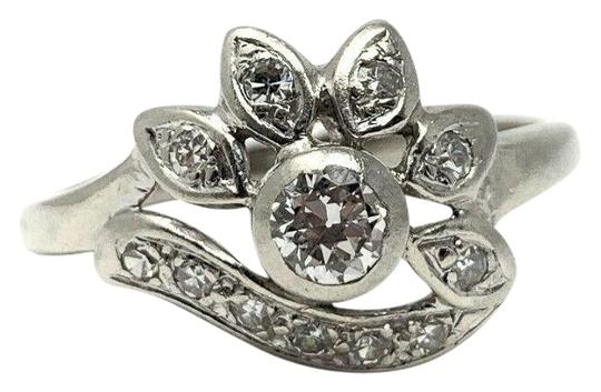 Preload https://img-static.tradesy.com/item/25434696/14k-white-gold-2ct-center-stone-floral-diamond-size-95-ring-0-1-540-540.jpg