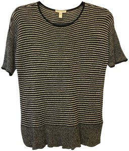 Eileen Fisher Linen Short Sleeve Stripe Size Pp Xs Sweater