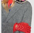 Gucci marmont Gg chevron leather gloves size 8 Image 2