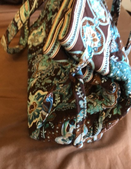 Vera Bradley Blue, Brown Travel Bag Image 1