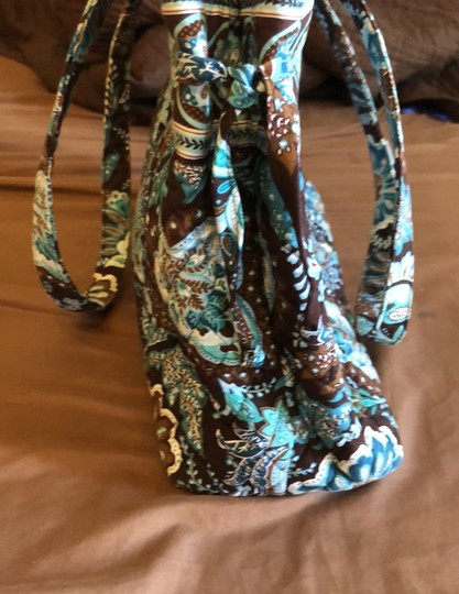 Vera Bradley Blue, Brown Travel Bag Image 2