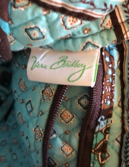 Vera Bradley Blue, Brown Travel Bag Image 5