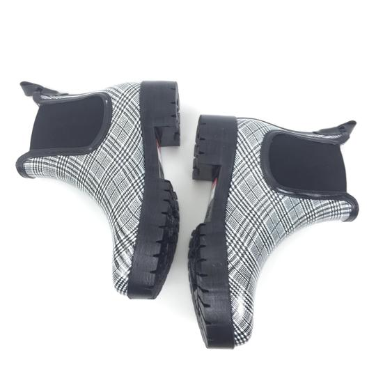 Jeffrey Campbell Rainboots Plaid Ankleboots Black Boots Image 3