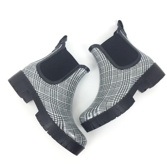 Jeffrey Campbell Rainboots Plaid Ankleboots Black Boots Image 4