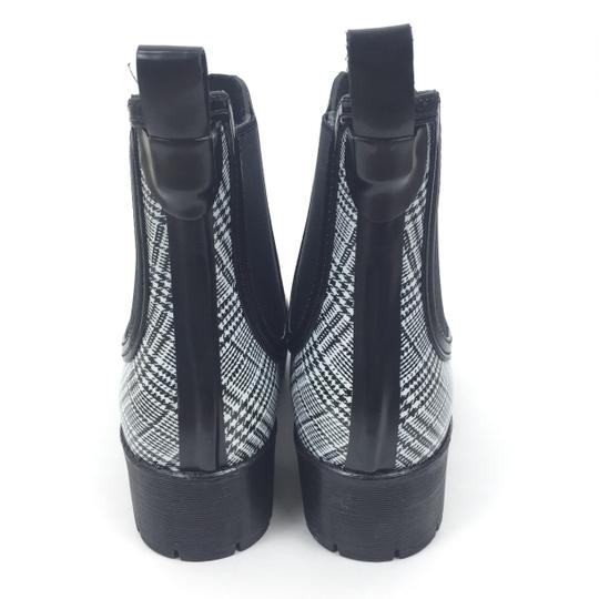 Jeffrey Campbell Rainboots Plaid Ankleboots Black Boots Image 6