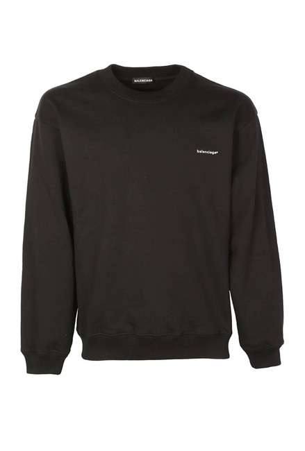 Preload https://img-static.tradesy.com/item/25434951/balenciaga-l-ct-new-logo-crewneck-large-black-sweater-0-0-650-650.jpg