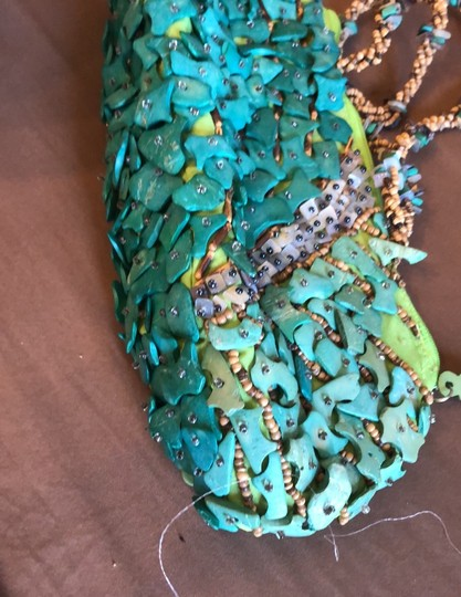 Mido Teal, Blue, Green Clutch Image 1