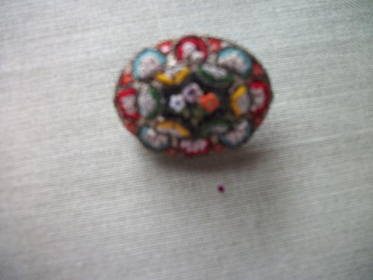 RM VIntage/Antique Millefiori Italy Brooch pin Marked RM Image 1