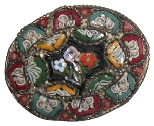 RM VIntage/Antique Millefiori Italy Brooch pin Marked RM