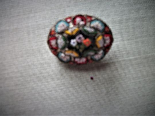 RM VIntage/Antique Millefiori Italy Brooch pin Marked RM Image 3