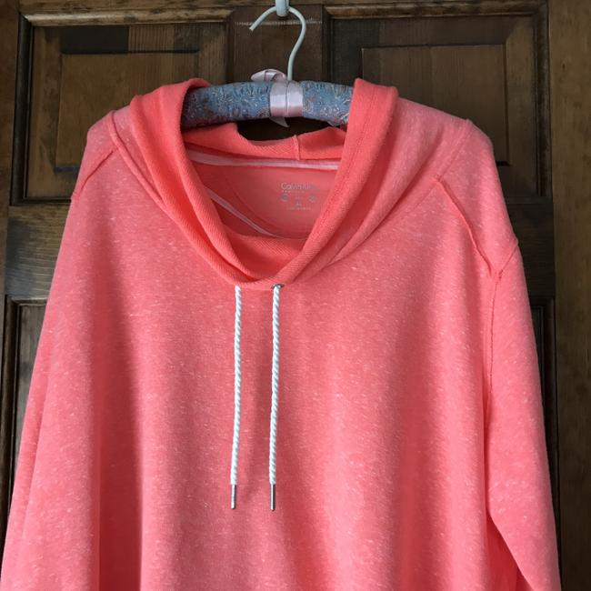 Calvin Klein New With Tags High/Low Drawstring Cowl Terry Lined Machine Wash Sweatshirt Image 1
