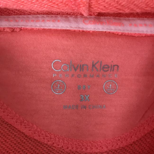 Calvin Klein New With Tags High/Low Drawstring Cowl Terry Lined Machine Wash Sweatshirt Image 2