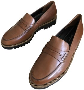Paul Green Loafer Office Leather Brown Platforms