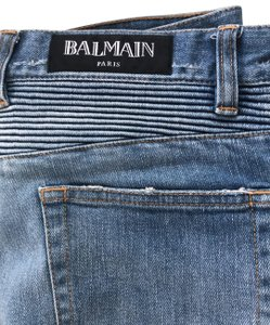 Balmain Relaxed Fit Jeans-Distressed