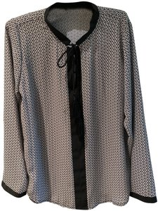 insight Tassel Rope Machine Washable Polyester Top Black & White with black trim