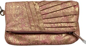 Jessica Simpson Gold and Pink Clutch