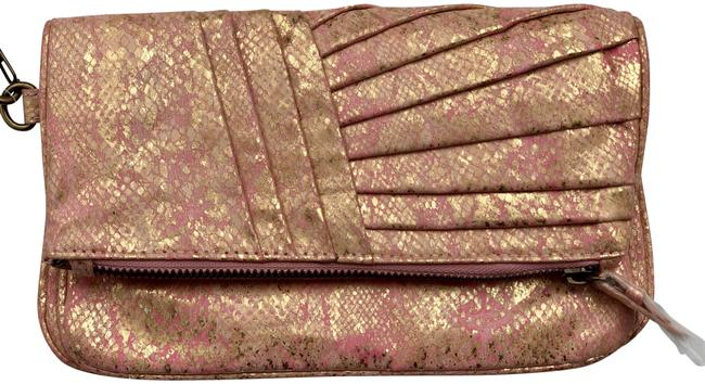 Item - Gold and Pink Leather Clutch