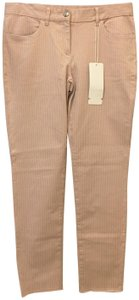 Escada & Shimmer Size 8 M Medium New With Tags Boyfriend Pants Pale Pink and Grey