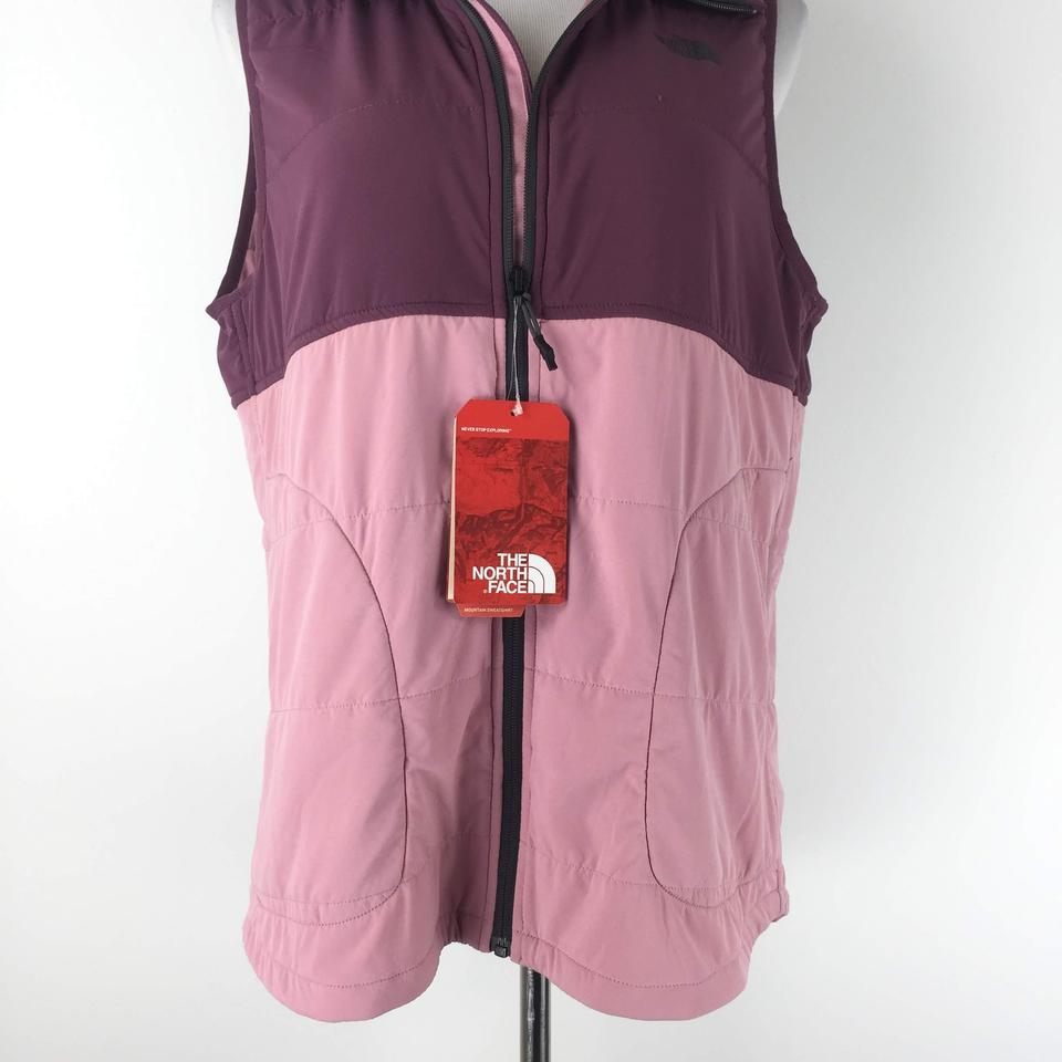 9645abc75 The North Face Pink Mountain Insulated Hooded Zip Vest Size 12 (L)