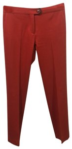 Salvatore Ferragamo Straight Pants orange