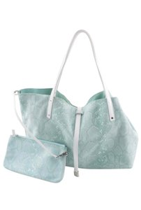 Tiffany & Co. Tote in MOSS GREEN & WHITE