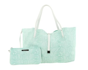 Tiffany & Co. Suede Leather Silver Hardware Tote in Green