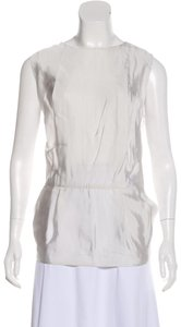 Marni Tunic Summer Minimalist Modern Top Pearl Grey