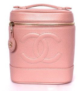 Chanel VERY PRETTY CHANEL PINK VANITY TRAIN CASE RARE NEW