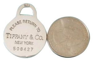Tiffany & Co. Large Round Tag Pendant