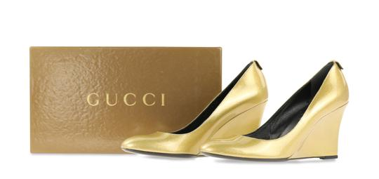Gucci Gold Wedges Image 11
