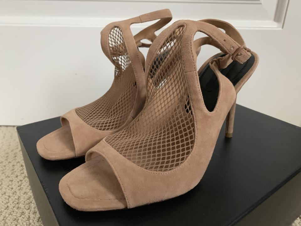 facd967d42 Alexander Wang Suede Open Toe Ankle Strap Mesh Nude Sandals Image 11.  123456789101112. 1 ∕ 12