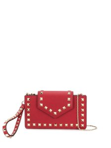 Valentino Rockstud Pouch Wristlet Clutch Shoulder Bag
