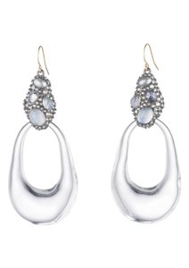 Alexis Bittar Lucite Cluster Link wire Earrings