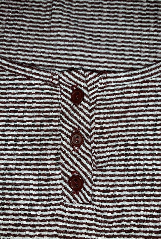 c41f507414 Urban Outfitters Maroon Striped Tee Shirt Size 12 (L) - Tradesy