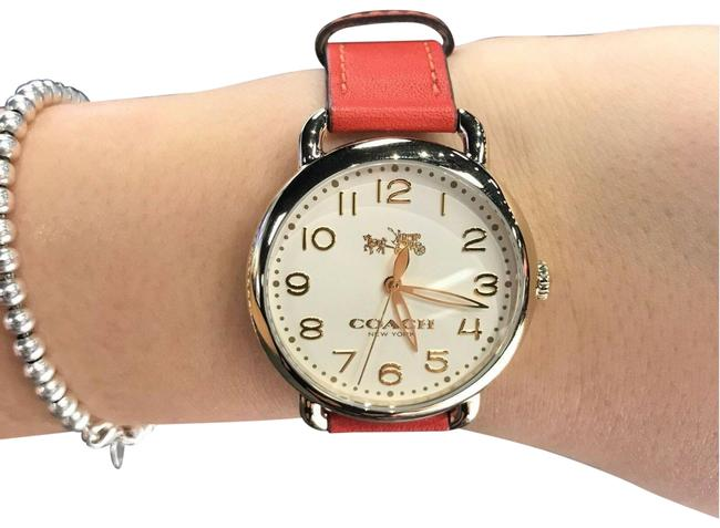 Item - Red and Orange Women's Delancey Gold Tone Coral Leather 14502719 Watch