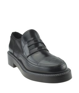 Chanel Loafers Leather Black Formal
