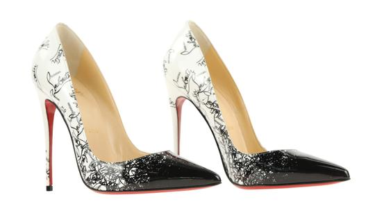Christian Louboutin Leather Patent Leather White Pumps Image 1