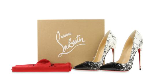 Christian Louboutin Leather Patent Leather White Pumps Image 11