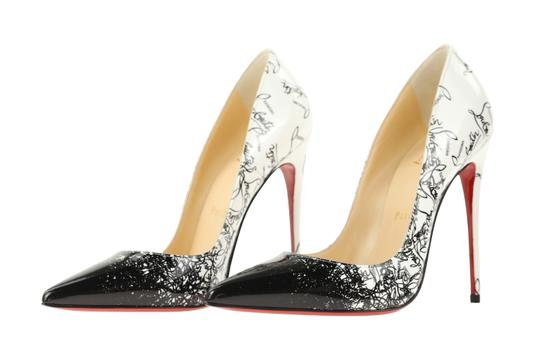 Christian Louboutin Leather Patent Leather White Pumps Image 3