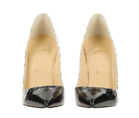 Christian Louboutin Leather Patent Leather White Pumps Image 4