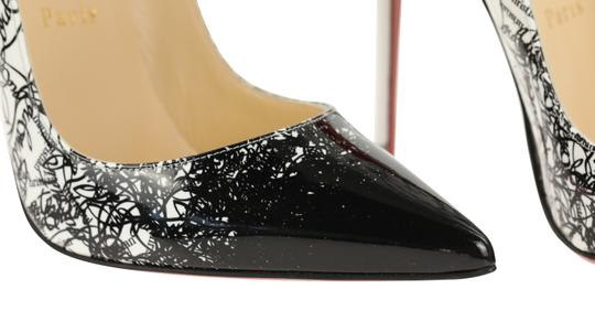 Christian Louboutin Leather Patent Leather White Pumps Image 7